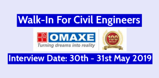 Omaxe Limited Walk-In For Civil Engineers Interview Date 30th - 31st May 2019
