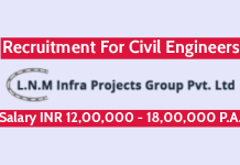 L.N. Malviya Infra Projects Pvt Ltd Recruitment For Civil Engineers Salary INR 12,00,000 - 18,00,000 P.A.