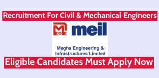 MEIL Recruitment For Civil & Mechanical Engineers Eligible Candidates Must Apply Now