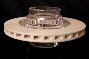 Verbundteil aus mehreren Materialien aus dem ProJet-Drucker von 3D-Systems (Bild: 3D Systems).