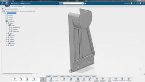 In Catia findet man sich schnell zurecht, den Rollenhalter für meinen 3D-Drucker hatte ich nach zehn Minuten mit dem neuen System fertig.