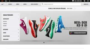 """Der Shop """"Nike ID"""" ist ein Anwendungsfall von Mass Customization zum Thema Schuhe (Bild Nike)."""