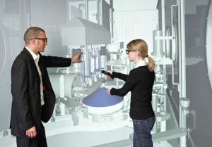 Einbauuntersuchungen zählen zu den wichtigen VR-Anwendungen im Sondermaschinenbau (Bild: VDC/ESI).