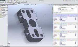 Der Classmate Easyfinder lässt sich in alle gängigen CAD-Systeme integrieren – zum Beispiel in Solidworks (Bild: simus systems GmbH).