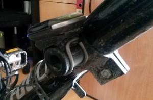 Eine Rahmenhalterung für den Fahrradtacho – mit dem 3D-Drucker schnell gebaut.