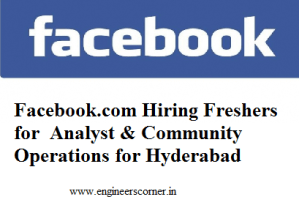 Facebook.com Hiring Freshers for  Analyst & Community Operations for Hyderabad
