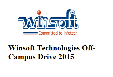 Winsoft Technologies Off-Campus Drive