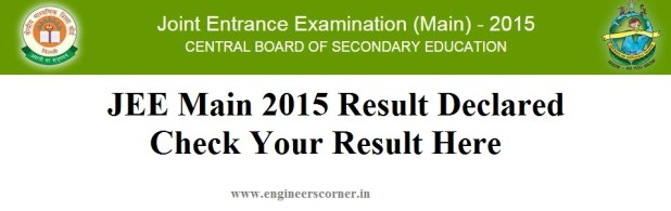 JEE Main 2015 Result cbseresults.nic.in