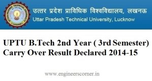 UPTU 2nd year carry over result 2015