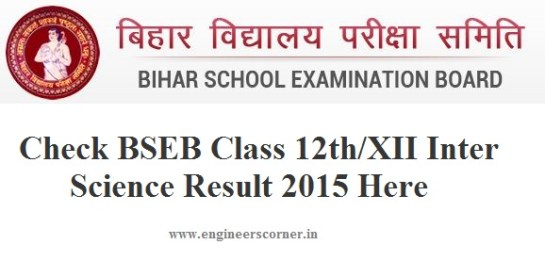 BSEB Class 12th inter result 2015