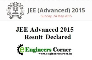 JEE Advanced 2015 Result declared