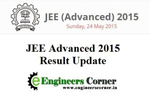JEE Advanced 2015 Result update