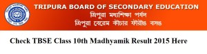 TBSE Class 10th Result 2015