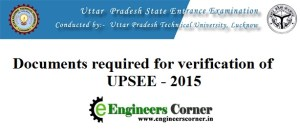 UPSEE 2015 Documents Required