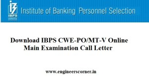 IBPS Main exam call letter download