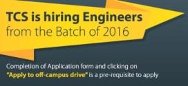 TCS offcampus 2016 batch job