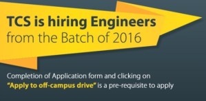 TCS offcampus 2016 batch job