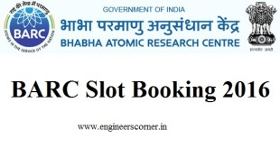 BARC Slot Booking 2016