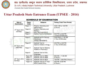 UPSEE 2016 Important Exam dates and schedule