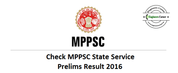 MPPSC State Service Prelims Result 2016
