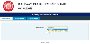 Railway Recruitment Board RRB NTPC (CEN 032015) Exam 2016 (Non-Technical)