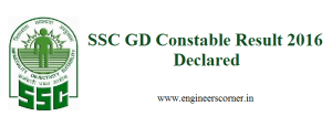 SSC GD Constable Result 2016 Declared