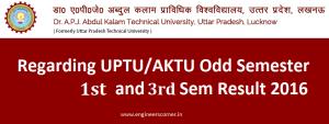 UPTU AKTU Result 2016