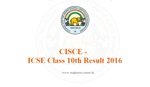 CISCE announced ICSE Class 10th Result 2016