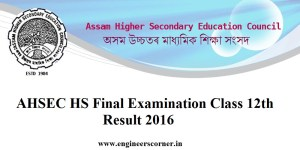 AHSEC HS Final Examination Result 2016