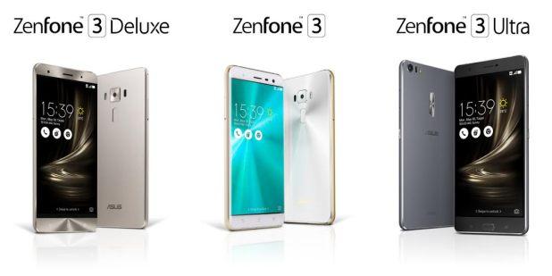 ASUS Zenfone 3 Zenfone 3 Deluxe Zenfone 3 ultra 2016