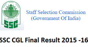 SSC CGL Final Result 2015 - Cut-Off Marks & Merit List Declared at ssc.nic.in