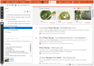 Vivaldi Browser notes feature