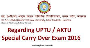 AKTU Special Carry Over Exam (SCOP)
