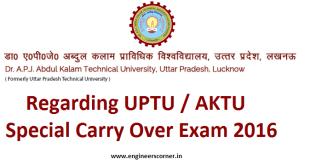 AKTU Special Carry Over Exam (SCOP)