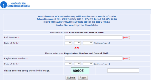 SBI PO Result 2016 and Cut-Off Marks