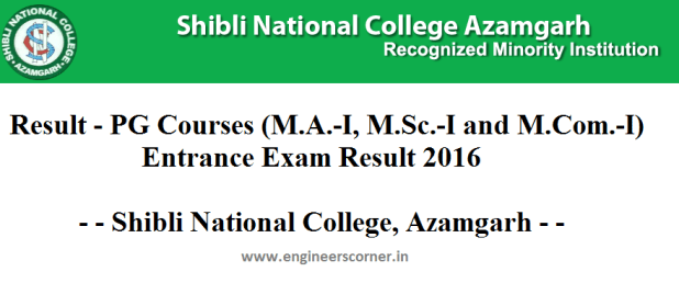 Shibli National College - Results PG Courses
