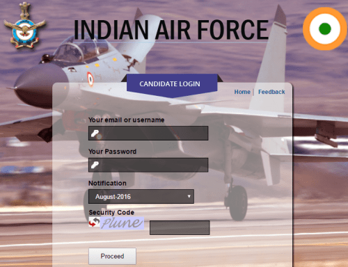 AFCAT Result 2016-17 - Indian Air Force