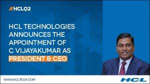 HCL Technologies Appoints C Vijayakumar as CEO