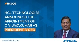HCL Technologies Appoints C Vijayakumar as CEO