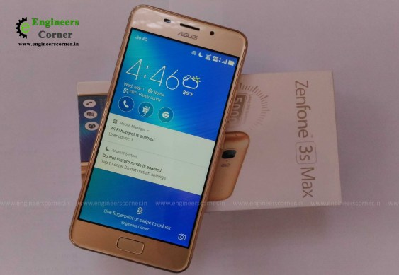 ASUS Zenfone 3 Max Front side pic