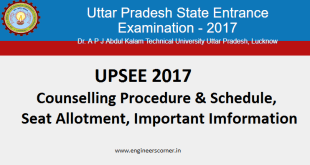 UPSEE 2017 Counselling