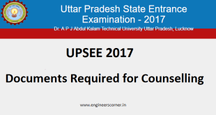 UPSEE 2017 Documents Required