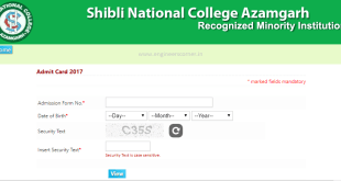 Shibli National College Admit Card - Download