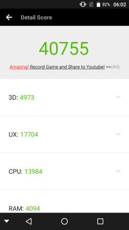 InFocus Turbo 5 Plus Benchmark Score