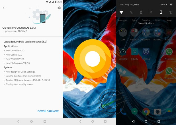 OnePlus 5T Oreo
