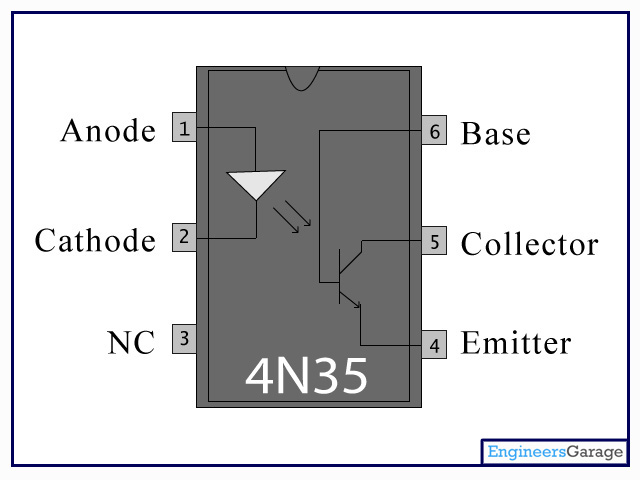 5 pin relay circuit diagram 1994 ford f350 radio wiring 4n35 optocoupler optoisolator dip ic