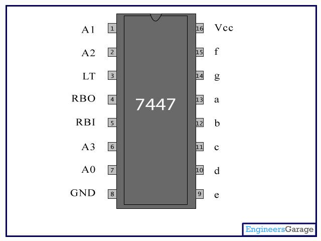 seven segment pin diagram volvo 240 alternator wiring 74ls47 ic | datasheet & description - engineersgarage