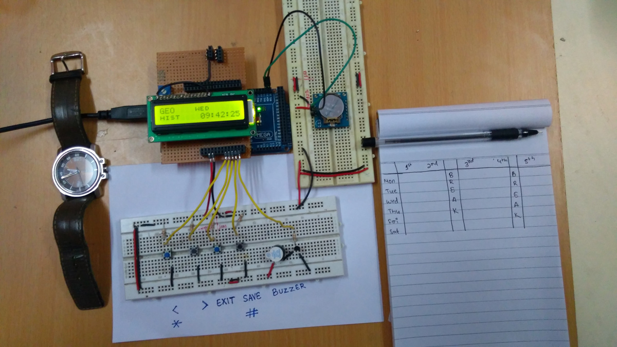 hight resolution of arduino based automatic school bell system