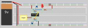 Circuit Diagram for Understanding NOR Gate (CD4001)