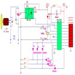 Single phase AC Motor speed controller: Circuit Diagram